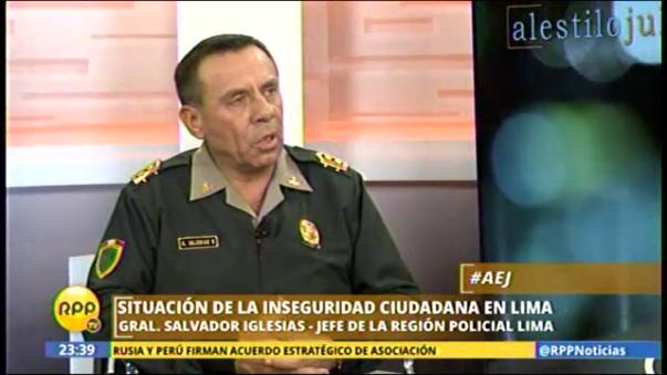 General Salvador Iglesias en RPP