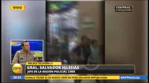 La respuesta del jefe de la Región Policial Lima, Salvador Iglesias