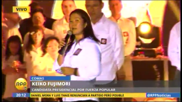 Keiko Fujimori presentó a Chlimper y Huaroc como vicepresidentes