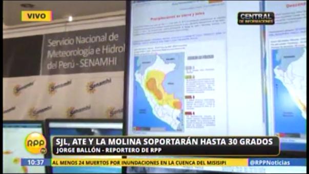 Distritos de Lima soportarán hasta 30 grados.