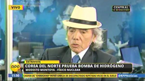 El físico nuclear Modesto Montoya.