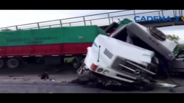 Un muerto y cinco heridos en accidente del camión de asistencia de Baud