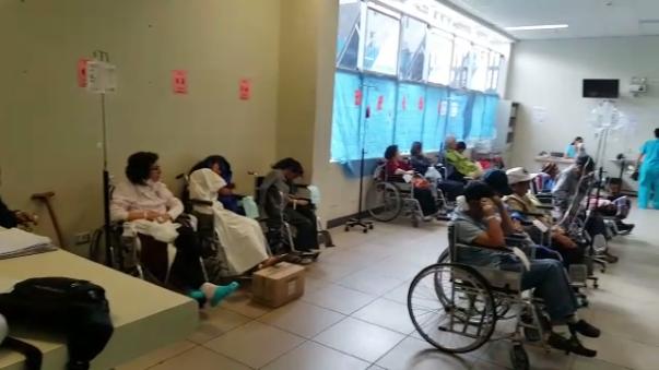Asi luce el área de emergencias del hospital Almenara de Essalud