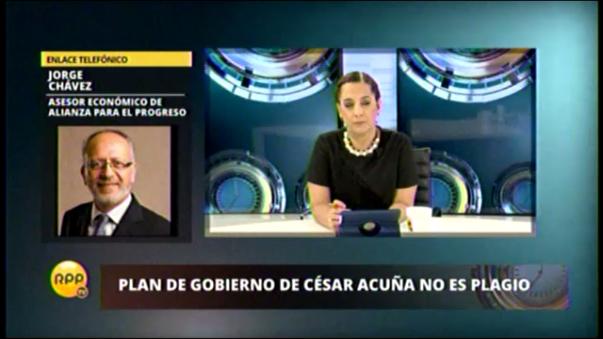 APP aclara que no hay plagio en plan de César Acuña