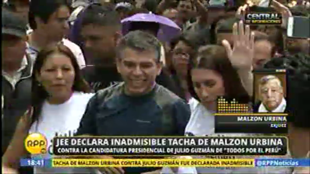 Malzon Urbina también presentó su tacha