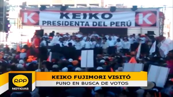 Keiko Fujimori realizó mitin en Puno