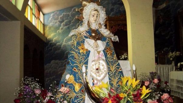 María, madre de la iglesia Católica.