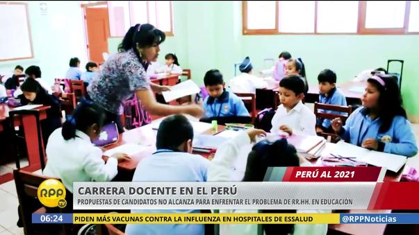 El informe Perú al 2021 abordó las propuestas de PPK y Keiko Fujimori sobre la carrera magisterial.