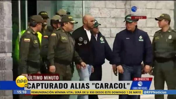 La policía colombiana entregó a 'Caracol'