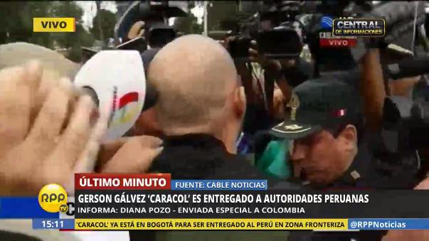 'Caracol' fue entregado a las autoridades peruanas