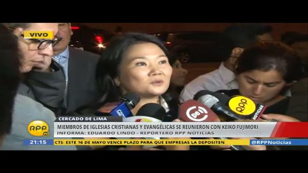 Keiko Fujimori se mostró en contra de la unión civil