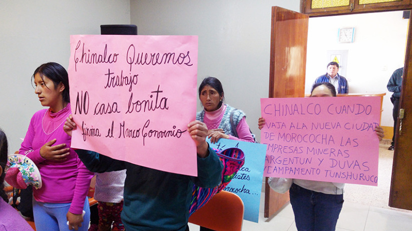 Huancayo: pobladores de Morococha protestan en Huancayo - RPP Noticias