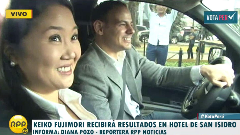 Keiko Fujimori dará una conferencia de prensa tras conocerse los resultados en el primer piso del hotel Meliá de San Isidro.