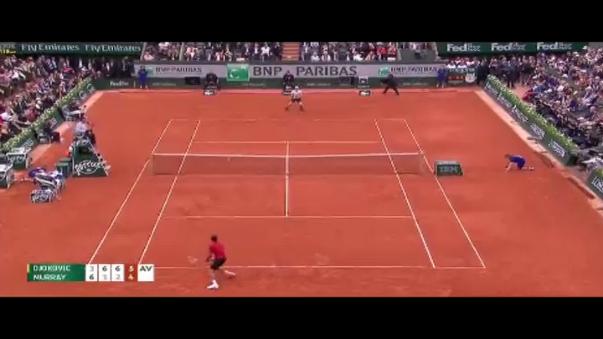 Momento de la consagración de Novak Djokovic.