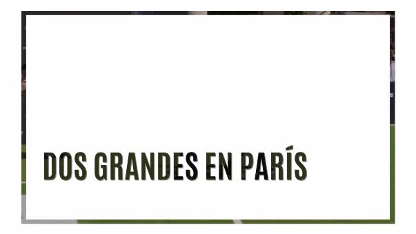 Se juntaron en Francia dos leyendas del fútbol mundial.