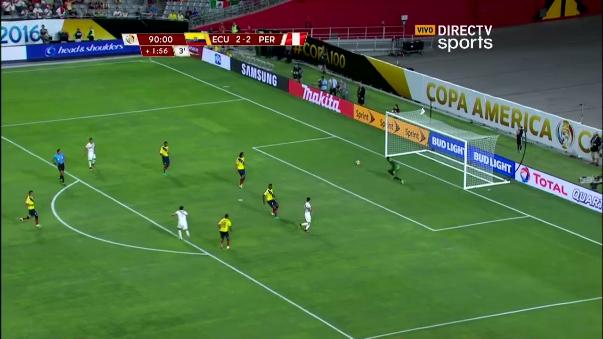 Revive el remate de Raúl Ruidíaz (minuto 2:32).