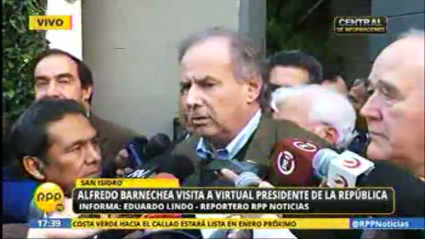 Alfredo Barnechea visitó a PPK