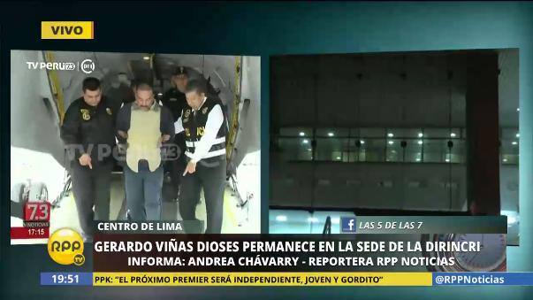 Gerardo Viñas Dioses permanece en la carceleta de la Dirincri.