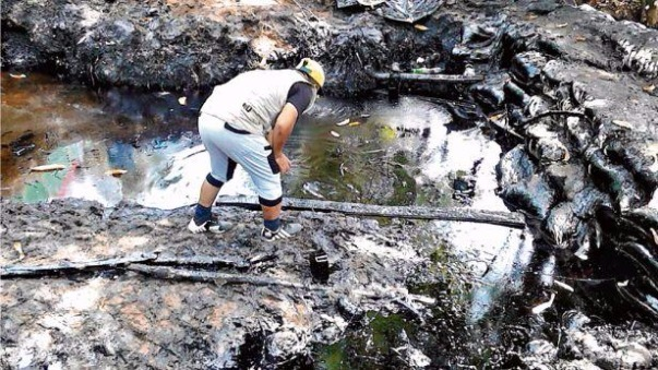 El alcalde de Datem del Marañón informó que el derrame de petróleo fue controlado.