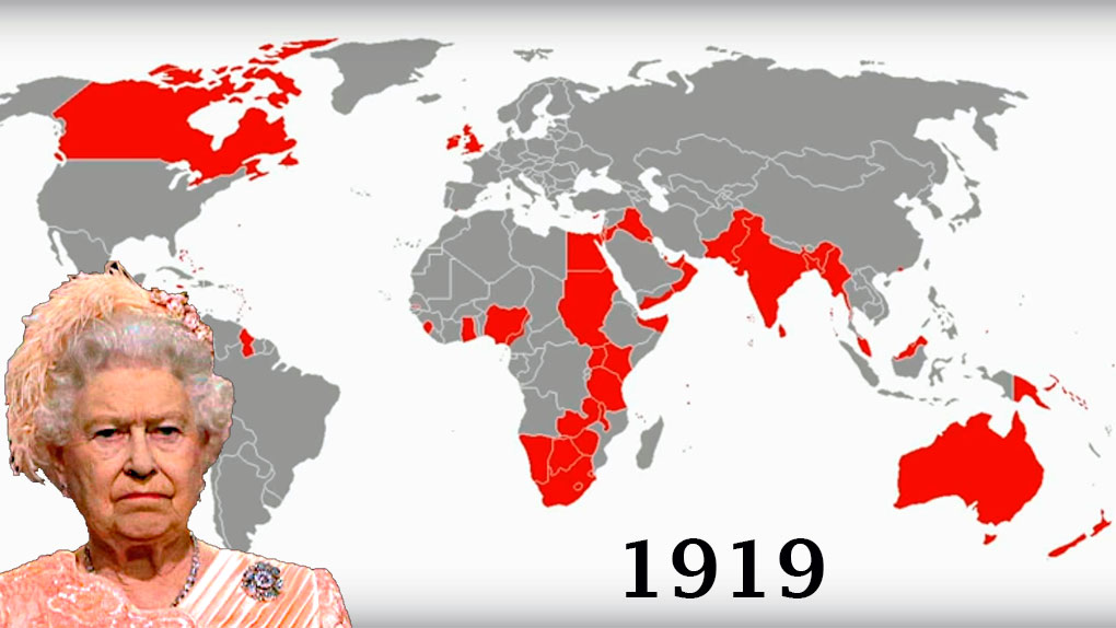 El Imperio Británico y los territorios que perdió a través de los años.