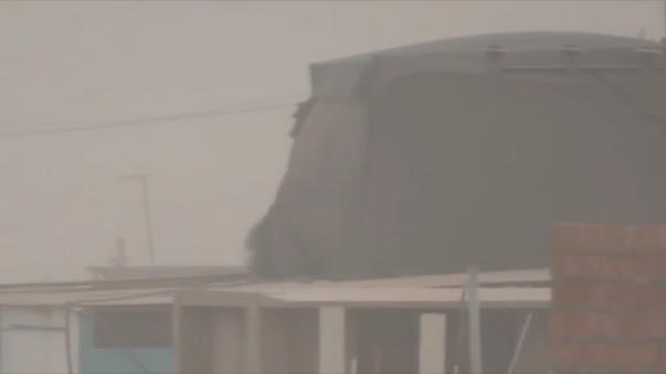 Fuertes vientos se presentaron en Tacna.