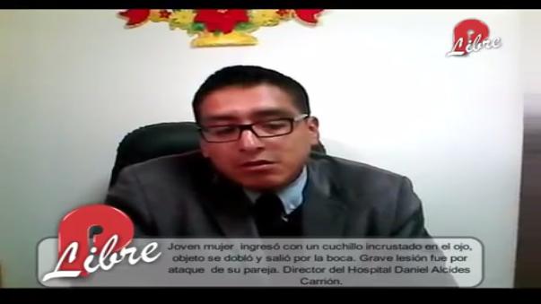El hospital Daniel Alcides Carrión recibió a la joven. Su director cuenta las complicaciones que provocó el cuchillo.