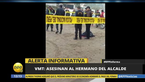 Carlos Palomino fue hallado a las 11 de la mañana en Villa María del Triunfo.