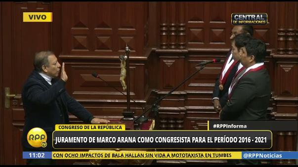 Marco Arana juró