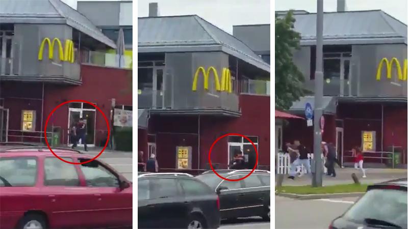 Video del momento exacto donde hombre comienza a disparar contra civiles.