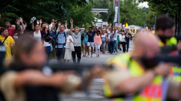 Ante la sospecha de un ataque terrorista, la policía alemana desplegó todas sus fuerzas de seguridad.