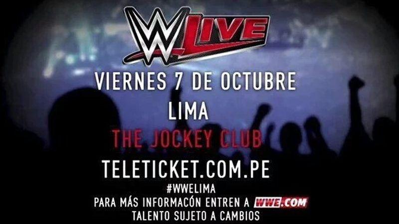 El último show que ofreció la WWE en Perú fue en el año 2009.