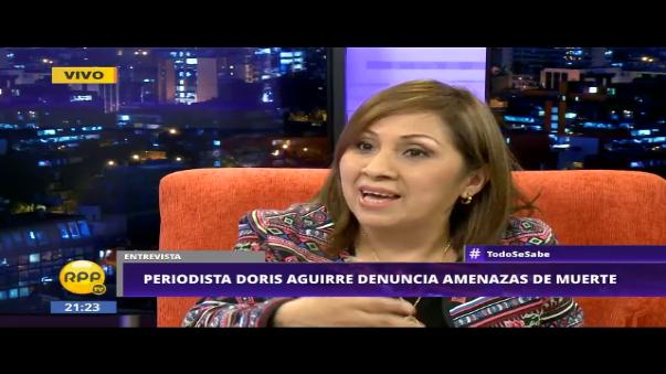 Doris Aguirre narra información obtenida de familiares de las víctimas en Chincha