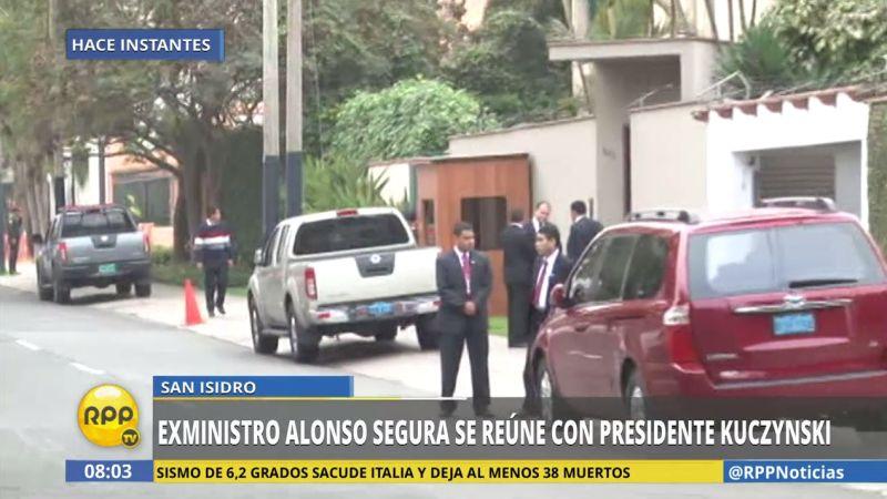 Así fue el arribo de Alonso Segura a la vivienda del jefe de Estado, en San Isidro.