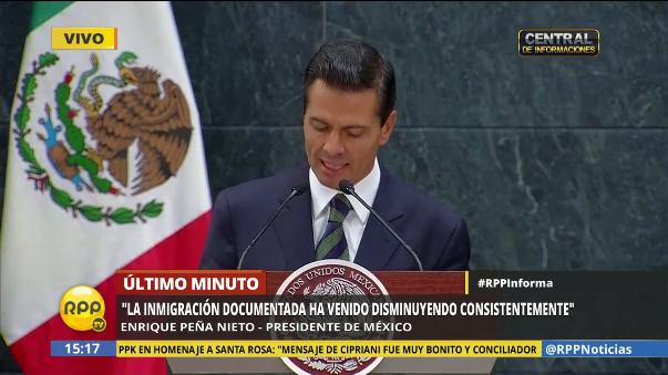 Peña Nieto dijo que tiene la responsabilidad de defender a los mexicanos.