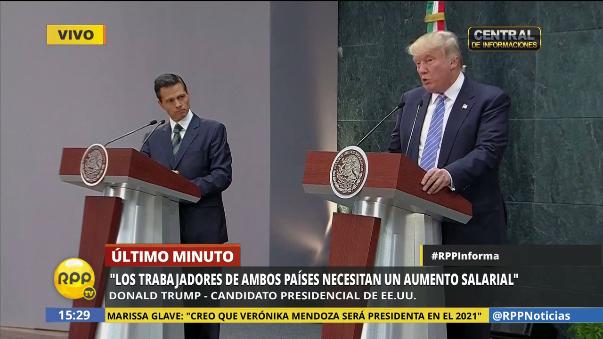 Donald Trump dijo que un muro es necesario, pero no señaló que la financiación no fue tema de conversación con el presidente mexicano.