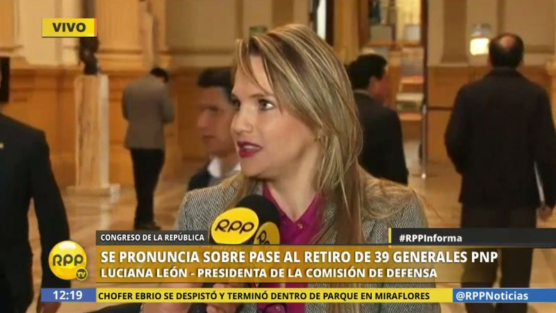 Luciana León, a diferencia de Mulder, saludó la medida y felicitó al ministro Carlos Basombrío.