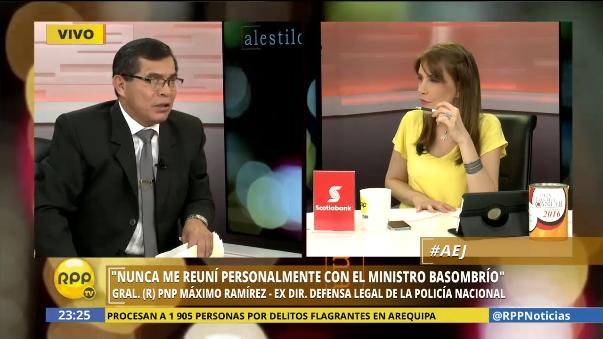 General (r) PNP Máximo Ramírez descartó tener alguna relación con el expresidente Ollanta Humala, ya que fue ascendido durante su gobierno.