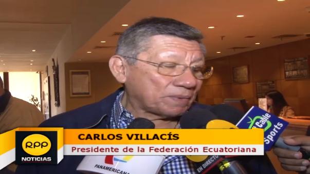 El presidente de la Federación Ecuatoriana de Fútbol confía en ver un gran partido entre Perú y su selección.