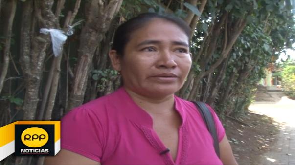 Rosa Pastor Teco, abuela de menor ultrajada en Yurimaguas.