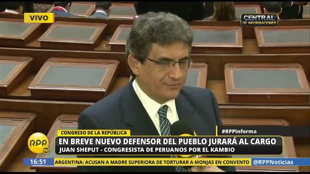 """El parlamentario Juan Sheput comentó que le tiene respeto a su homólogo Guido Lombardi, a pesar que éste le dijo que """"era el único que tiene una crisis en la cabeza""""."""