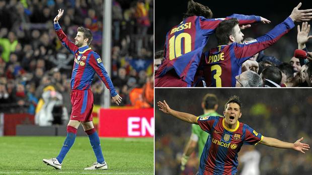 Barcelona ganó la liga española y la Champions League en la temporada 2009-2010.