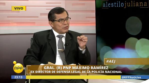 Tras ser retirado de la Policía Nacional, el general Máximo Ramírez, exdirector de Defensa Legal de la PNP, cuestionó el pase al retiro de 39 generales.