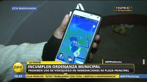 Jugadores de Pokémon Go no cumplieron con prohibición en La Punta.