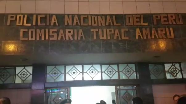 Bryan Rafaile fue llevado a la Comisaria de Túpac Amaru para las investigaciones del caso