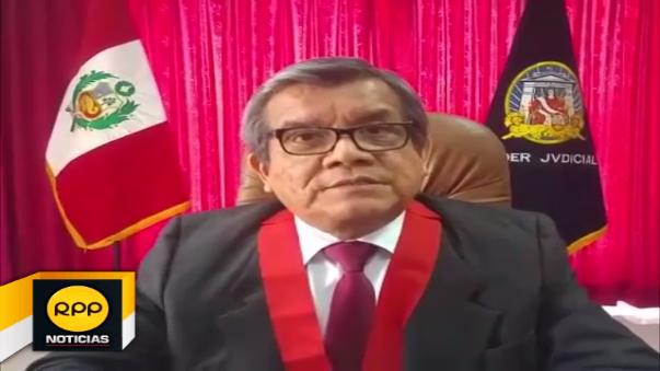 Presidente del distrito judicial de Ica, Paucar Felix.