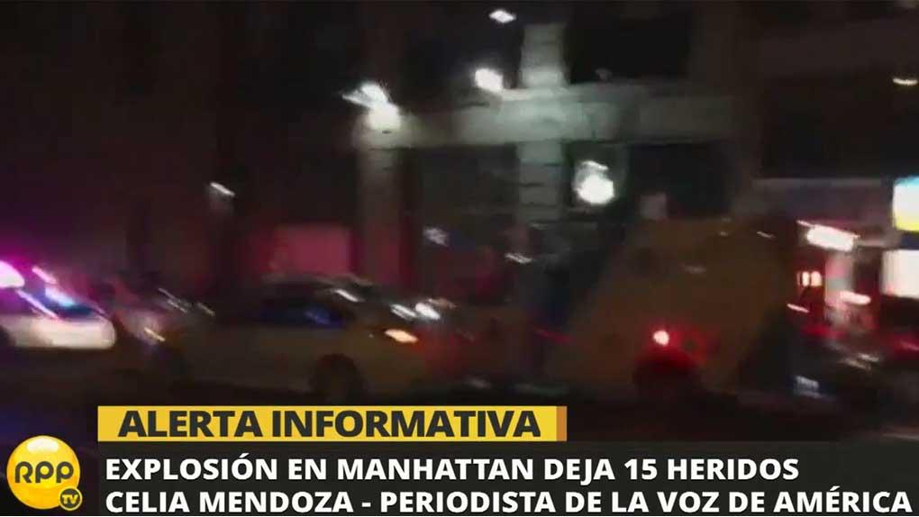 La explosión se produjo aproximadamente a las 8:30 p.m.
