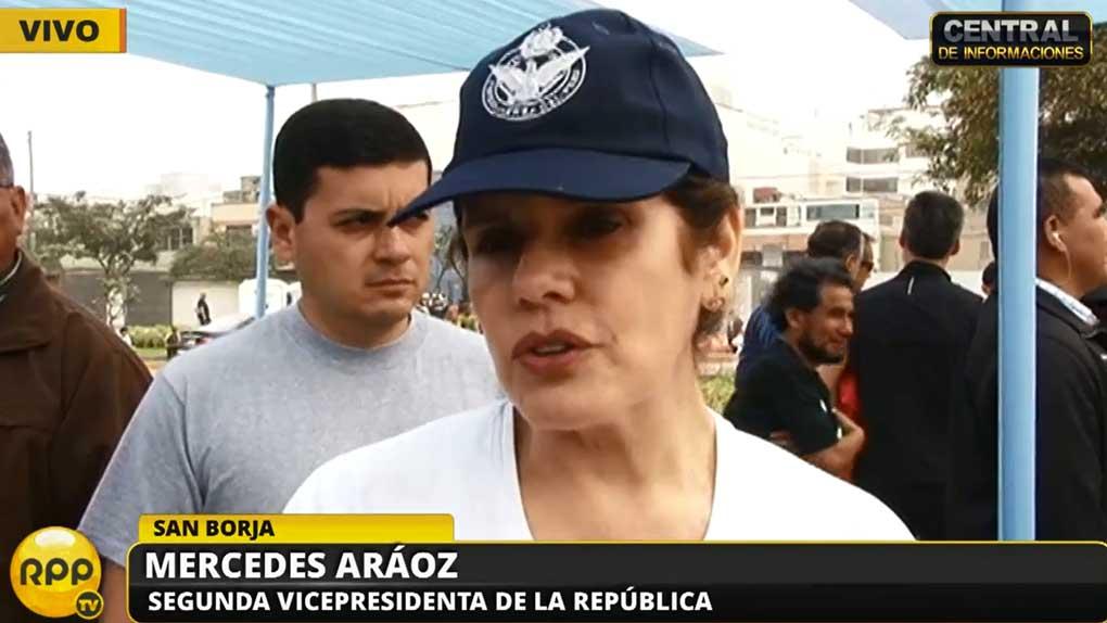 Mercedes Aráoz evitó opinar sobre las razones de Vilcatoma para renunciar a la bancada de Fuerza Popular.
