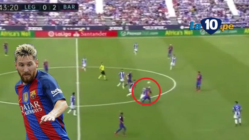 Lionel Messi y su lujo ante Leganés.