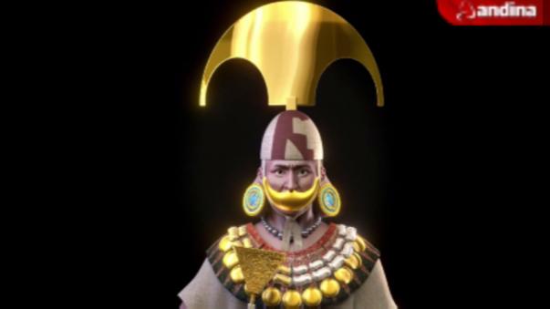 Así fue la reconstrucción 3D del rostro del Señor de Sipán.