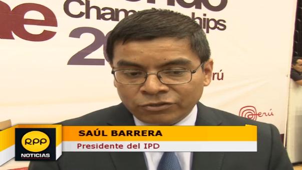 Saúl Barrera es el presidente del Instituto Peruano del Deporte.